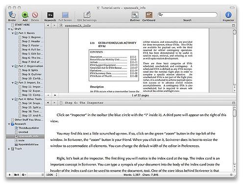 Image du   logiciel Scrivener