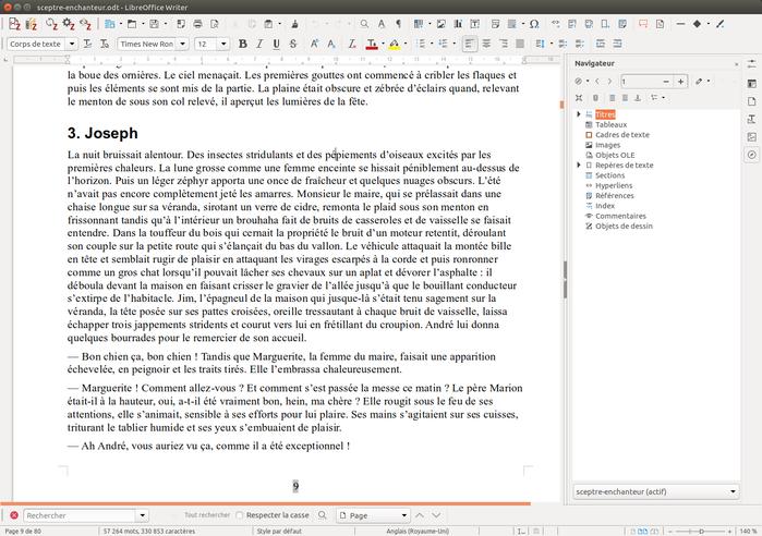 Image du   traitement de texte LibreOffice Writer