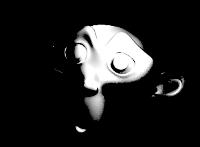 Image de toon diffus en noir et blanc